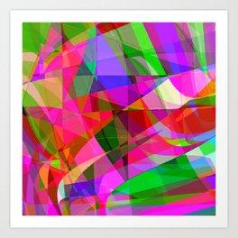 crank up the color Art Print