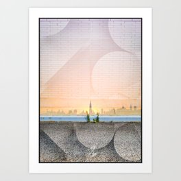 Greenpoint Sunset Art Print