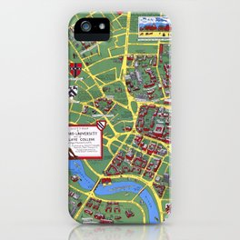 HARVARD University map CAMBRIDGE iPhone Case