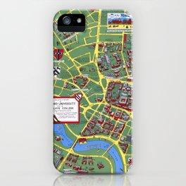 HARVARD University map CAMBRIDGE iPhone Case