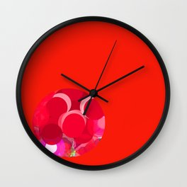 Sexyplexi dots in red mini ball Wall Clock