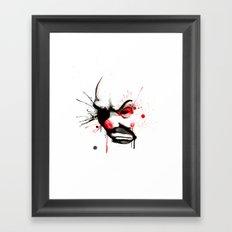 Clown Bank Robber Splatter Framed Art Print