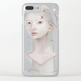 Japanese Blossom Clear iPhone Case