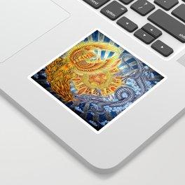 Chinese Phoenix and Dragon Mandala Sticker