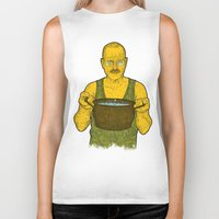 cook Biker Tanks featuring Cook (green) by Lime