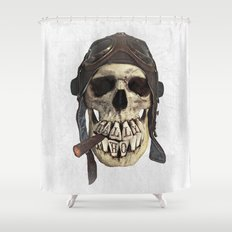 TALLY HO  (skull series 2 of 3) Shower Curtain