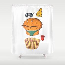 Finding Maffunz Shower Curtain