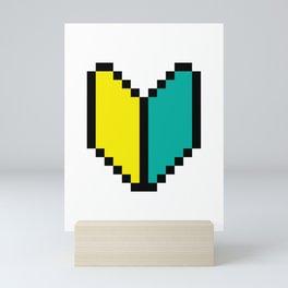 8 Bit Pixel Wakaba / Shoshinsha Mark Mini Art Print