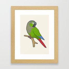 Pixel / 8-bit Parrot: Green-cheek Conure Framed Art Print