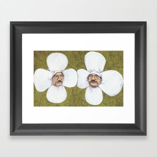 Flower Men Framed Art Print