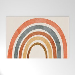 Abstract Rainbow 88 Welcome Mat