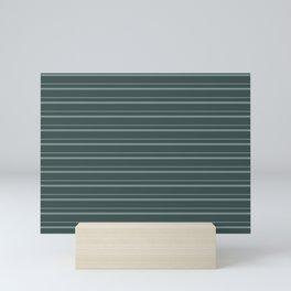 Scarborough Green PPG1145-5 Horizontal Stripes Pattern 3 on Night Watch PPG1145-7 Mini Art Print