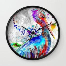 Pelican Grunge Wall Clock