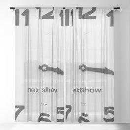 Clock Sheer Curtain