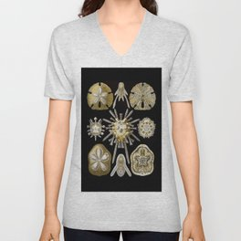 Ernst Haeckel Echinidea Sea Urchin Unisex V-Neck