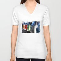 vans V-neck T-shirts featuring Hippy Vans by Barbo's Art