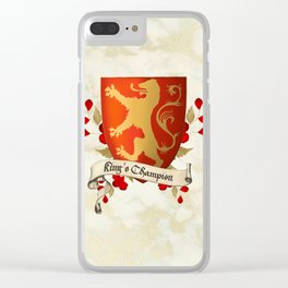 King's Champion - Lioness Shield Clear iPhone Case