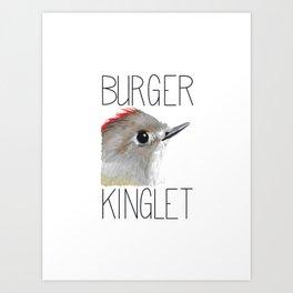Burger Kinglet (Ruby-crowned Kinglet) Art Print