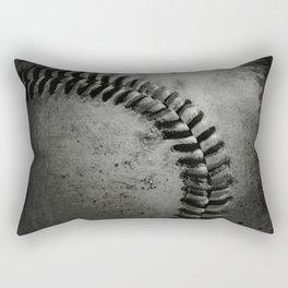 Black and white Baseball Rectangular Pillow