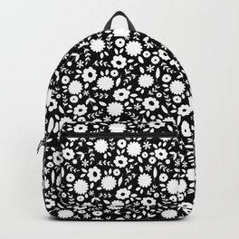 Black & White Floral Backpack