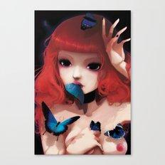 Chew my blue... Canvas Print