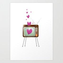Love TV Art Print
