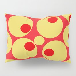Red and Gold Circles Pillow Sham