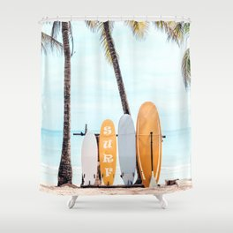 Choose Your Surfboard Shower Curtain