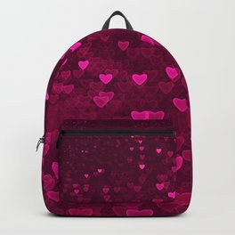 Valentine's Day | Romantic Crimson Galaxy | Universe of pink purple hearts Backpack