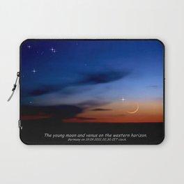 Moon and Venus on the western horizon. Laptop Sleeve