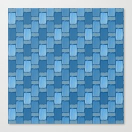 Blue Tiles Canvas Print