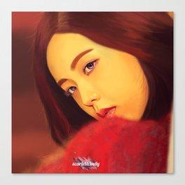 Jisoo - Black Pink (Square Two) Canvas Print