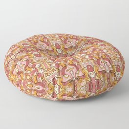 Flower spirit / Brown, orange pallete Floor Pillow
