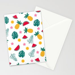 Summer tropical pattern Stationery Cards