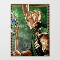 loki Canvas Prints featuring Loki by Natalie Nardozza