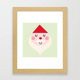 Adorable christmas Santa isolated on white Framed Art Print
