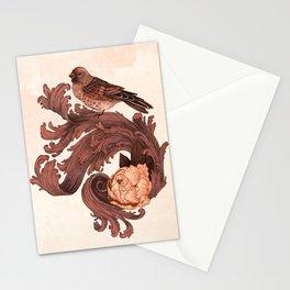 Rosy Bird Stationery Cards