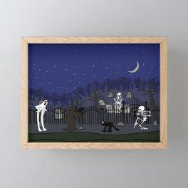 Cemetery - color Framed Mini Art Print