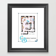 Carrie Bradshaw Apartment as a poster Framed Art Print