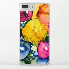 Astral Flowers #1 Clear iPhone Case