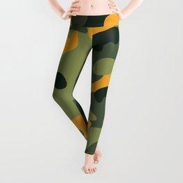 Green & Orange Camo Leggings