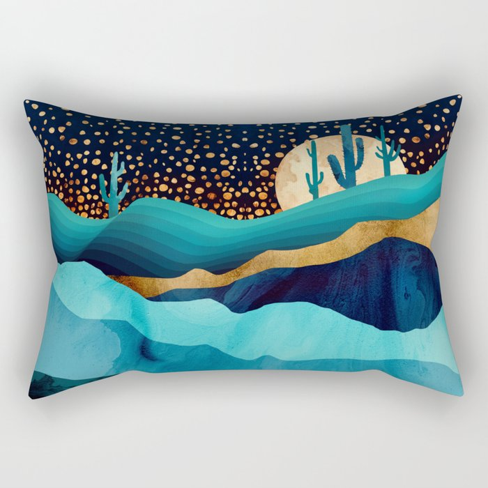 Indigo Desert Night Rectangular Pillow