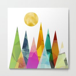 Moon in the Forest Metal Print