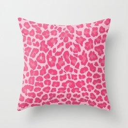 Pink leopard pattern Throw Pillow