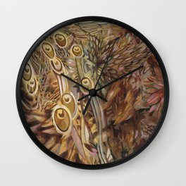 Feathers Glump Wall Clock