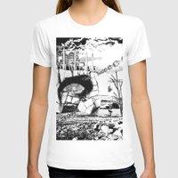pittsburgh T-shirts featuring PITTSBURGH, PENNSYLVANIA by Alberto Matsumura