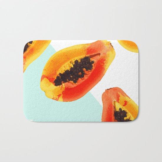 Papaya #society6 Bath Mat