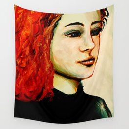 Red hair Wall Tapestry