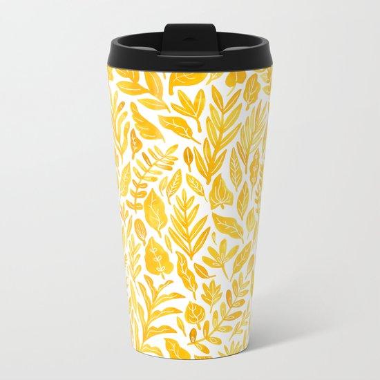 Dandelion Yellow Metal Travel Mug
