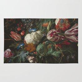 Jan Davidsz de Heem - Vase of Flowers (c.1660) Rug